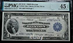 $1 1918 FRBN BOSTON Fr#710 PMG CH EXTREMELY FINE 45 EXCEPTIONAL PAPER QUALITY