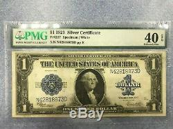 $1 -one Dollar Bill 1923-pmg -40 Extremely Fine -silver Certificate