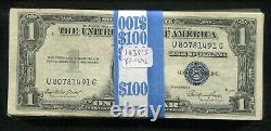 (100)1935 $1 One Dollar Blue Silver Certificates Extremely Fine-uncirculated (b)