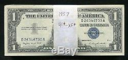 (100) 1957 $1 One Dollar Blue Seal Silver Certificates Very Fine-extremely Fine