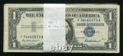 (100) 1957 $1 One Dollar Silver Certificates Extremely Fine Uncirculated (e)