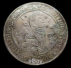 1623 Wa Silver Saxe-altenburg German State Thaler Four Sons Coin Extremely Fine