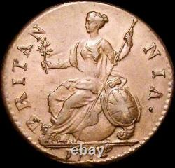 1772 HALFPENNY George III Almost Extremely Fine Peck 901