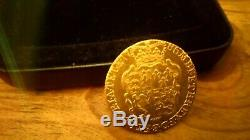 1786 George III Full Gold Guinea Extremely Fine with beautiful presentation case