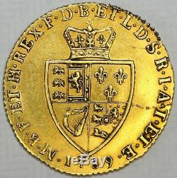 1789 George III Gold Full Guinea Extremely Fine Obverse Good Very Fine Reverse