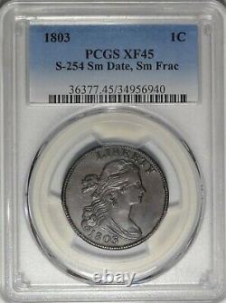 1803 S-254 1c PCGS XF 45 Choice Extremely Fine Draped Bust Large Cent Type Coin