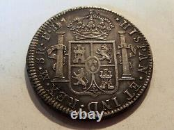 1805 Mo MEXICO Charles IV 8 Reales Silver Coin Nice Original Extremely Fine