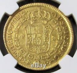 1812 Lima Jp Gold Peru 4 Escudos Ferdinand VII Ngc Extremely Fine 40 Caballero