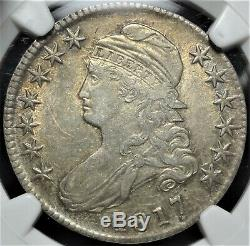 1817 50c NGC XF 45 Lustrous Choice Extremely Fine Capped Bust Half Dollar Coin