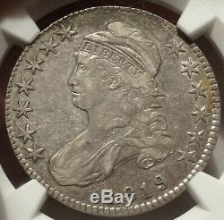 1819 50c NGC XF 45 Choice Extremely Fine Capped Bust Half Dollar Silver Coin