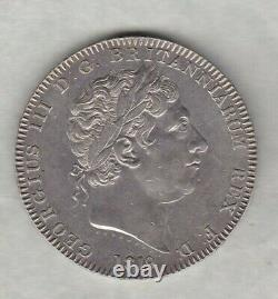 1819lx George III Silver Crown In Good Extremely Fine Condition