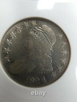 1824/4 Capped Bust Half Dollar ANACS VF O-109 Extremely Fine XF Det Old Cleaning