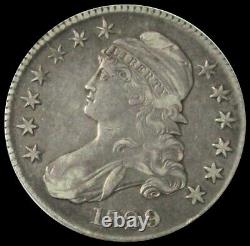 1829 Silver United States Capped Bust Half Dollar Coin Extremely Fine
