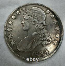 1834 Capped Bust Half Dollar Large Date Small Letters Extremely Fine XF EF