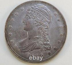 1839 Capped Bust Reeded Edge Half Dollar Extremely Fine