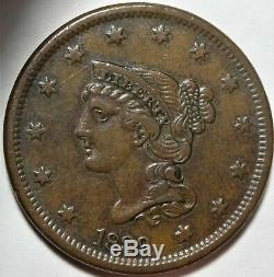 1839 N-8 Head of 1840 Braided Hair Large Cent Choice Extremely Fine 1c Coin