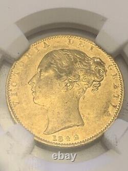 1842 Gold Sovereign Shield Victoria Young Head NGC Extremely Fine 3852 Spink