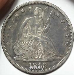 1846-O Medium Date Seated Half Dollar Extremely Fine XF WB-12 Variety 50c Coin