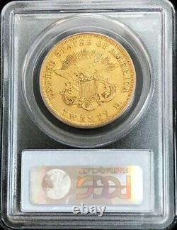 1856 Gold United States $20 Liberty Double Eagle Type 1 Pcgs Extremely Fine 45