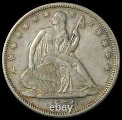 1859 Silver United States Seated Liberty Half Dollar Extremely Fine