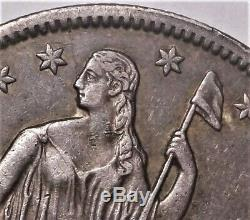 1861-O CSA Obverse Seated Liberty Half Extremely Fine XF W-11 FS-401 Die Crack