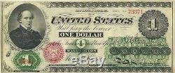 1862 $1 Legal Tender CIVIL War Greenback Note Super Crisp Extremely Fine