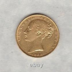 1862 Shield Back Victoria Gold Sovereign In Extremely Fine Condition