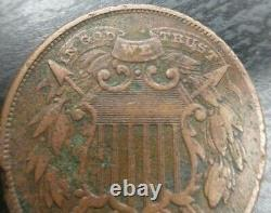 1864 SMALL Motto Two-Cent Piece 2-Cents Very Fine VF or EF Extremely Fine Detail