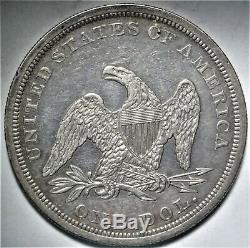 1864 Seated Liberty Dollar Choice Extremely Fine XF to AU Civil War Date $1 Coin