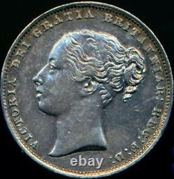 1866 SHILLING Victoria Second Young head Die 30 Nearly Extremely Fine ESC 3027