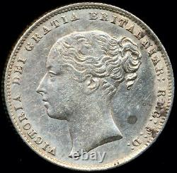 1867 SHILLING Victoria Young head Die 31 Extremely Fine Scarce ESC 3030