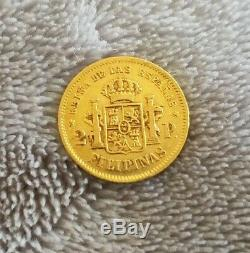 1868 Philippines Gold 2 Pesos in Extremely Fine grade Exceptional