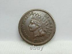 1869 Indian Head Penny Extremely Fine Condition #2 Mint Error
