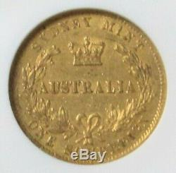 1870 Gold Australia Sovereign Coin-sydney Mint Ngc Extremely Fine 45