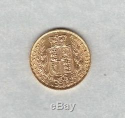 1872 Gold Shield Back Sovereign In Extremely Fine Condition