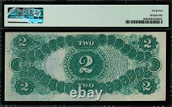 1874 $2 Legal Tender FR-43 Graded PMG 45 Choice Extremely Fine Rare