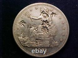 1875-S Trade Dollar Extremely Fine & heavily chop marked