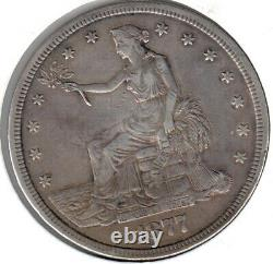 1877-S EXTREMELY FINE Trade Dollar, Nicely Toned