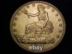 1877-S Trade Dollar Extremely Fine or better details improperly cleaned
