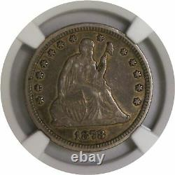 1878 CC 25C Seated Liberty Quarter Silver NGC XF45 Extremely Fine Coin