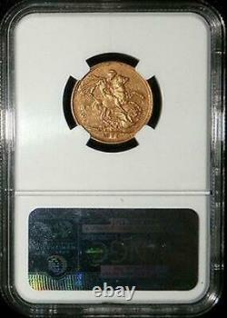 1879 M Gold Australia Dragon Slayer Sovereign Ngc Extremely Fine 45
