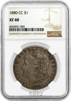 1880 CC $1 Morgan Silver Dollar NGC XF40 Extremely Fine Circulated Key Date Coin