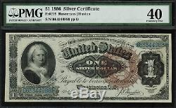 1886 $1 Silver Certificate FR-219 Martha Graded PMG 40 Extremely Fine
