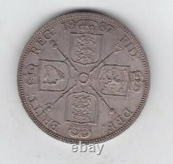 1887 Roman I Silver Double Florin In Extremely Fine Condition