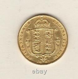 1887 Victoria Jubilee Gold Half Sovereign In Extremely Fine Condition