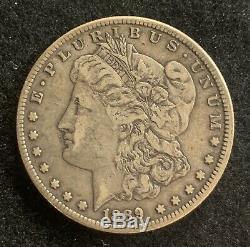 1889-CC Morgan Dollar $1 Extremely Fine XF Nice Gunmetal Grey Original Example