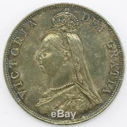 1889 Extremely Fine Queen Victoria Jubilee Head Double Florin Coin Lot C