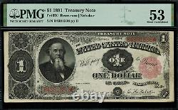1891 $1 Treasury Note FR-350 Stanton PMG 40 Extremely Fine