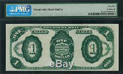 1891 $1 Treasury Note FR-351 Stanton Graded PMG 45 EPQ Choice Extremely Fine