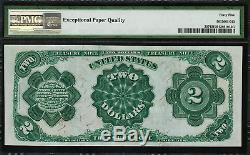 1891 $2 Treasury Note FR-357 McPherson PMG 45 EPQ Choice Extremely Fine